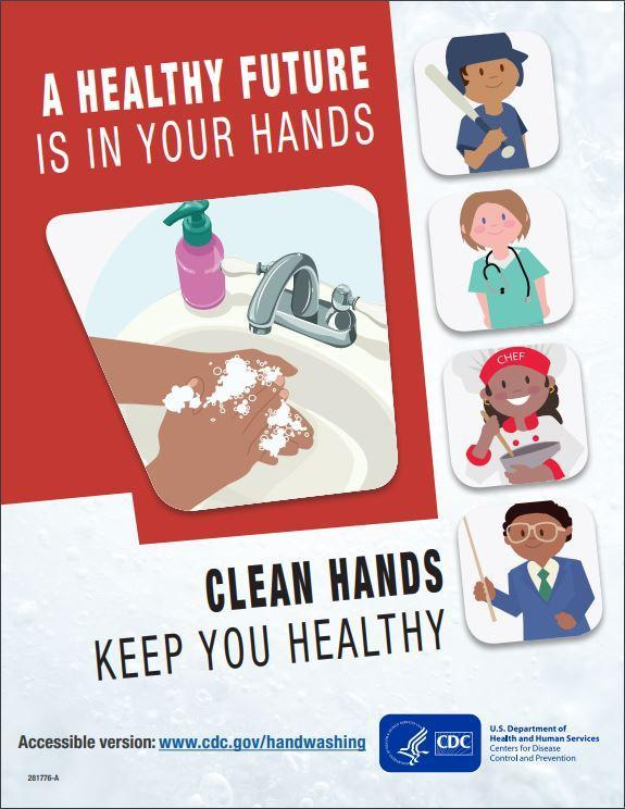 Wash Hands to prevent spreading of germs