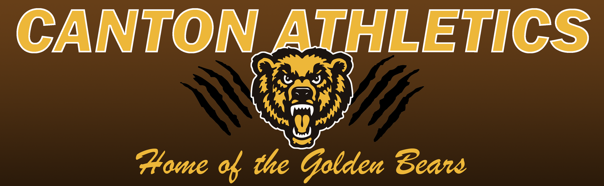 Header Image that reads 'Canton Athletics, Home of the Golden Bears' and displays an image of a growling bear.