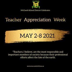 McComb School District Recognizes Teacher Appreciation Week 2021