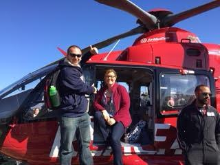 Tommy and Kellee at Helicopter
