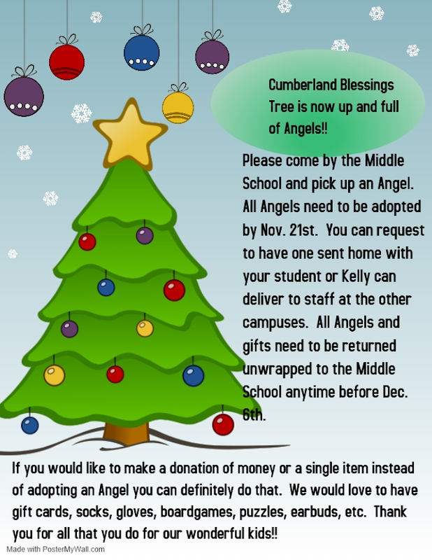 Cumberland Academy Blessings Tree Deadline To Adopt Featured Photo
