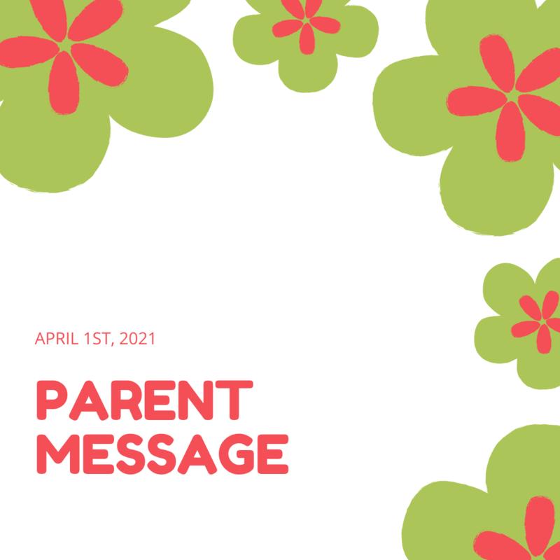 SCIS Parent Message: April 1st, 2021 Featured Photo