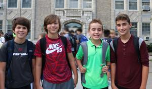 Roosevelt Intermediate School students pose for picture during first week of school.