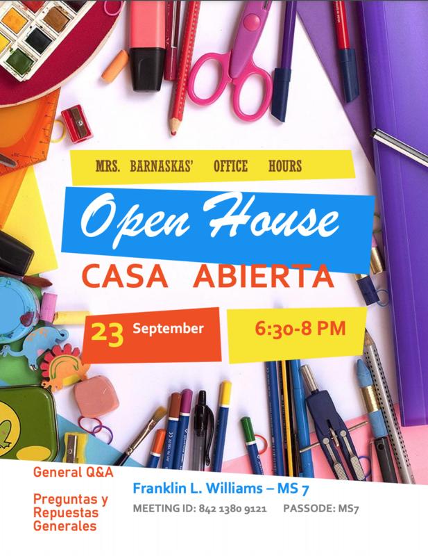 Open house info.