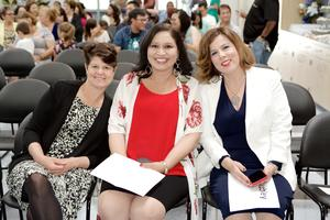 Teacher Suzanne Hammoud, Job Developer Arlene Flores, College and Career Specialist Valerie Beachley.
