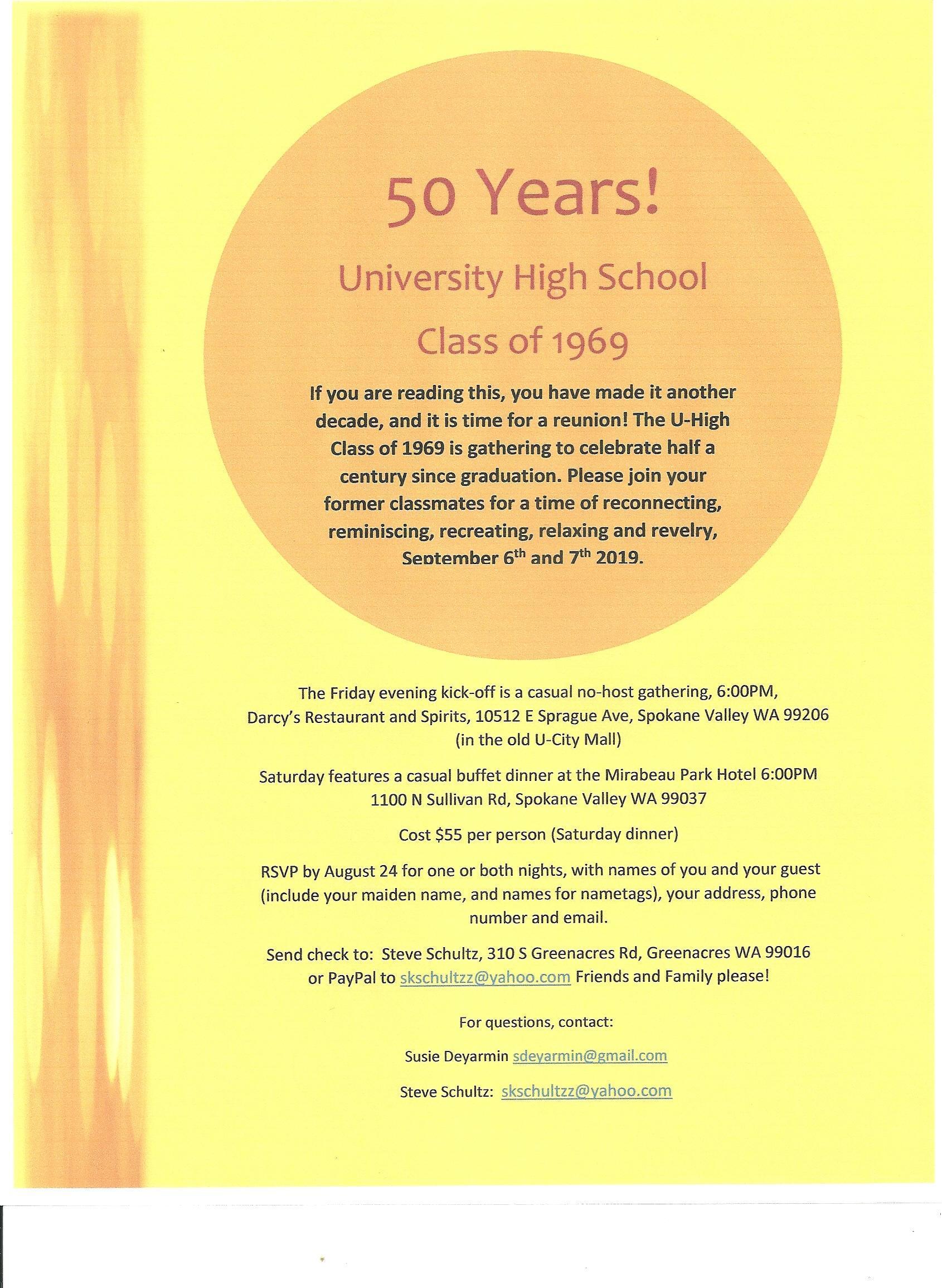 Class of 69 Flyer