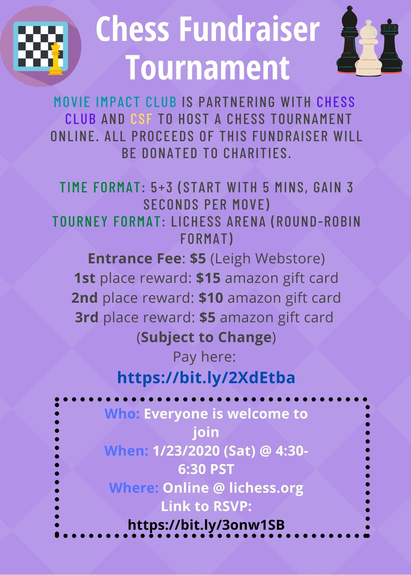 Chess Fundraiser Tournament