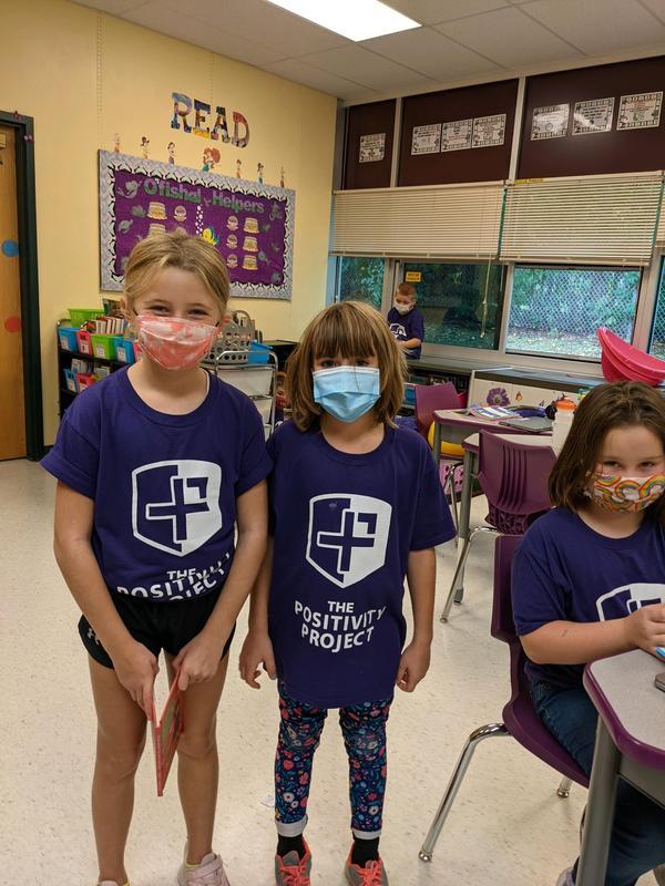 Students wearing P2 shirts