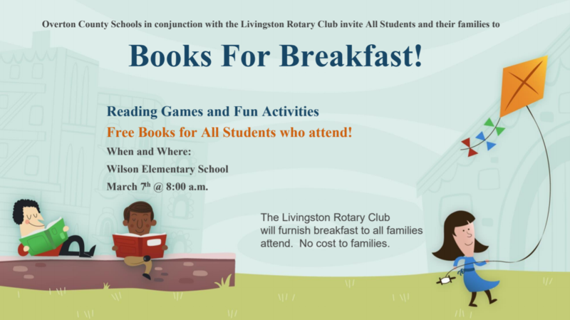 Books for breakfast flyer