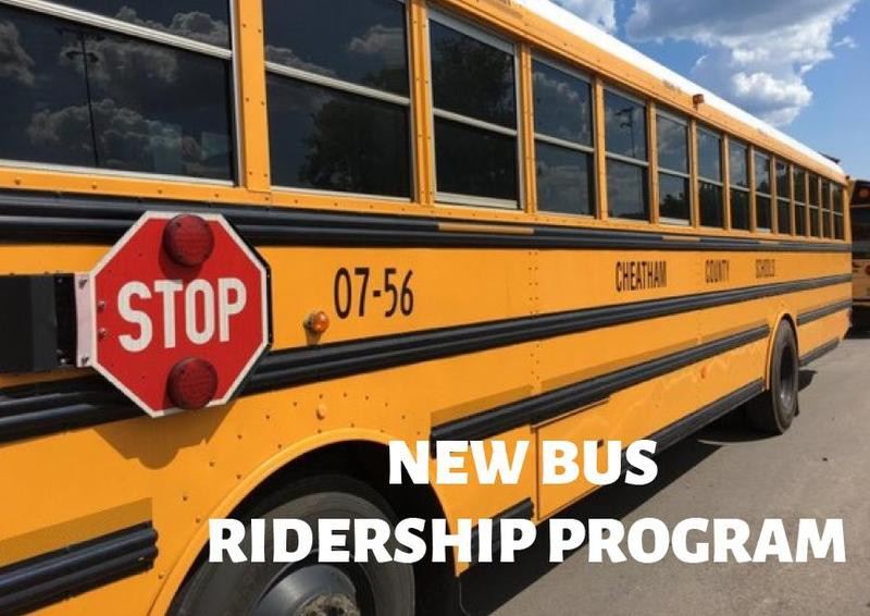 The purpose of the new ridership program is to be able to verify the location of our students while on a Cheatham County school bus.