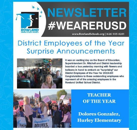 RUSD Employees of the Year Announced! Thumbnail Image