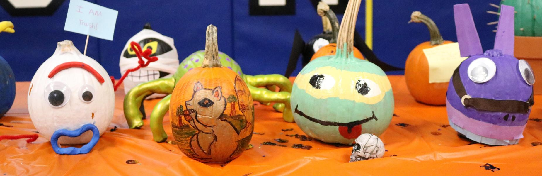 Photo of decorated pumpkins in Wilson's Pumpkin Patch