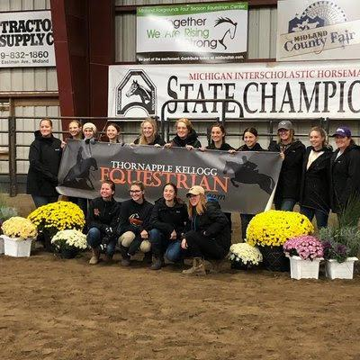 TKHS Equestrian team members placed 3rd at the state competition.