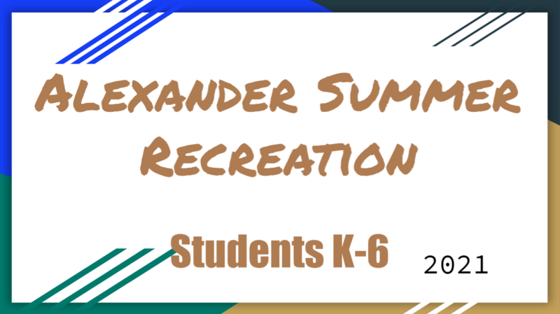 Alexander Summer Recreation Program Featured Photo