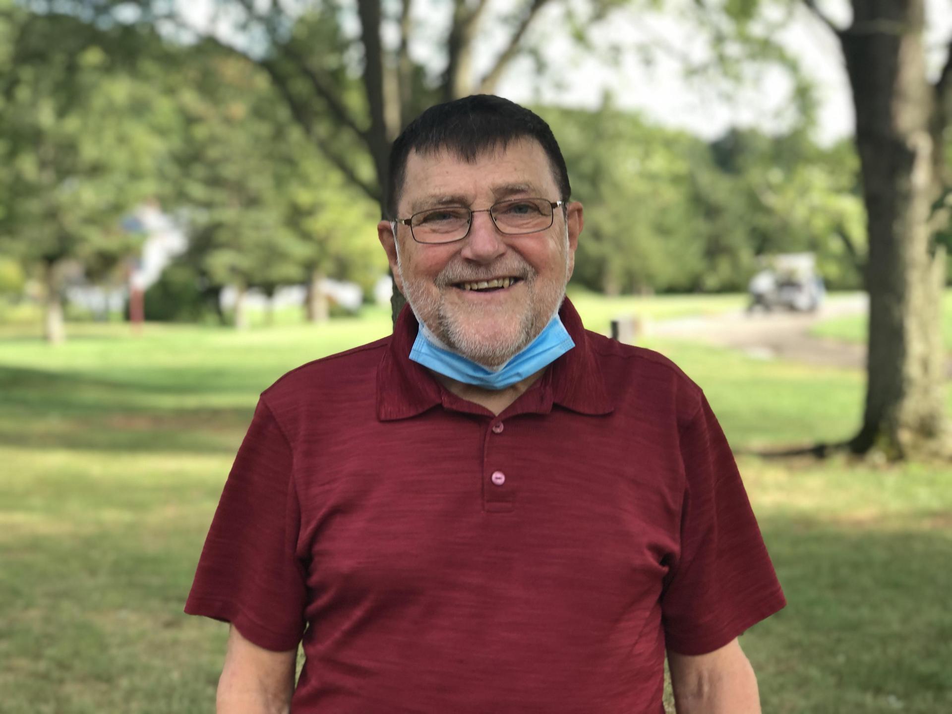 Bob Michalski at 2020 Alumni Golf