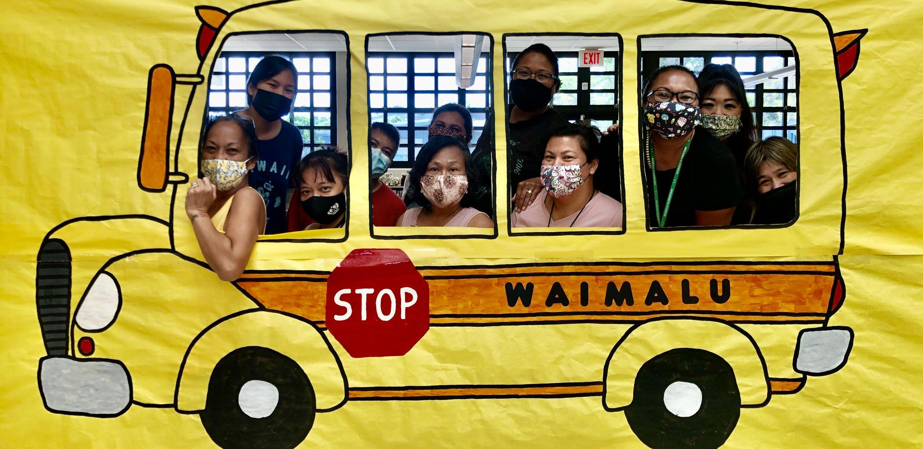 Our Educational Assistants riding the Waimalu Energy Bus