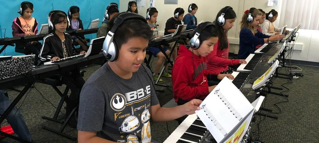 Our Music Lab introduces piano to over 400 students.