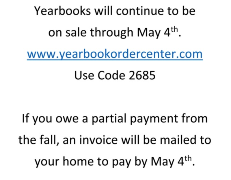 Yearbook Sales extended Until May 4 Featured Photo
