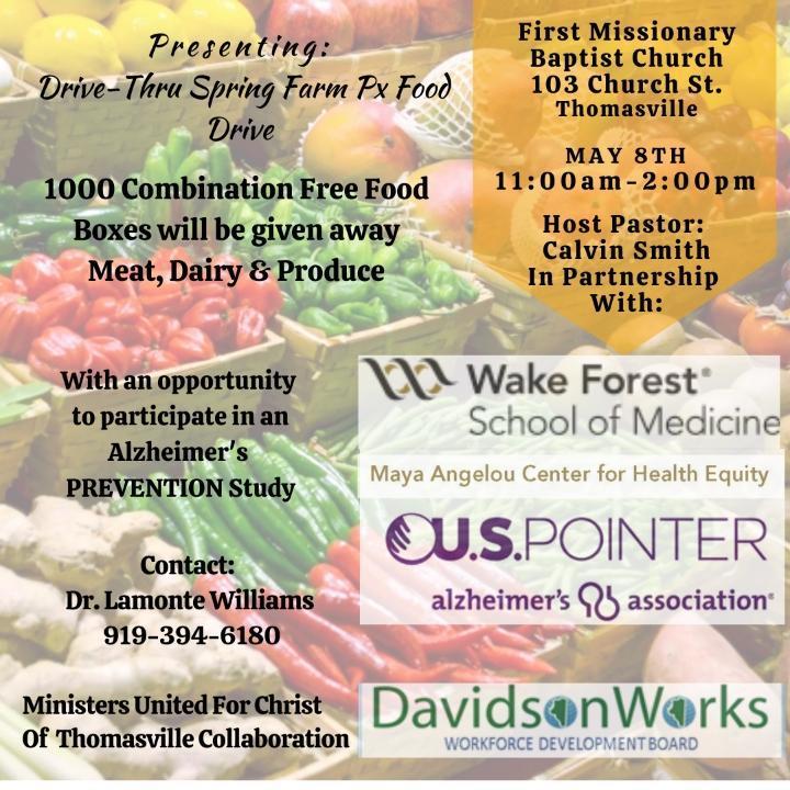 May 8 Food drive