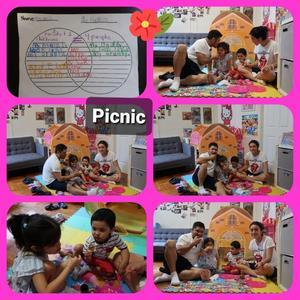 Yasmin's family picnic for four