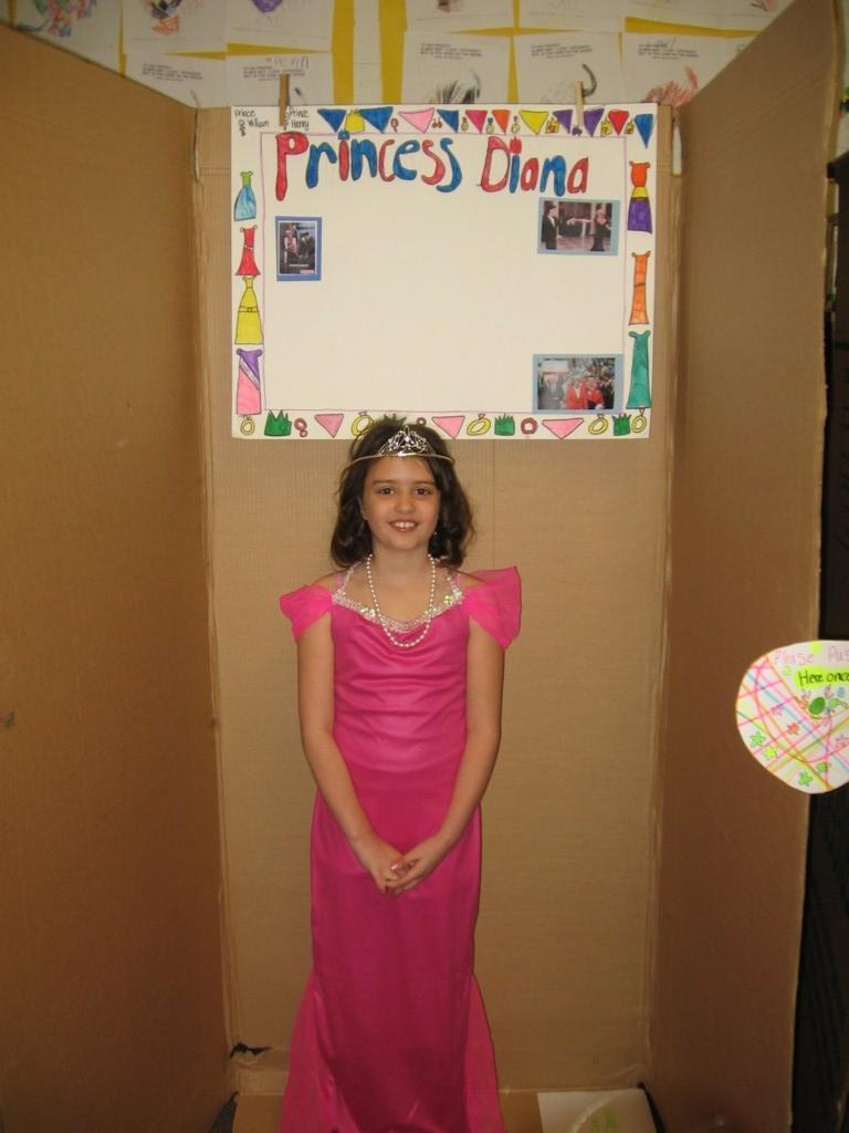 girl dressed as Princess Diana