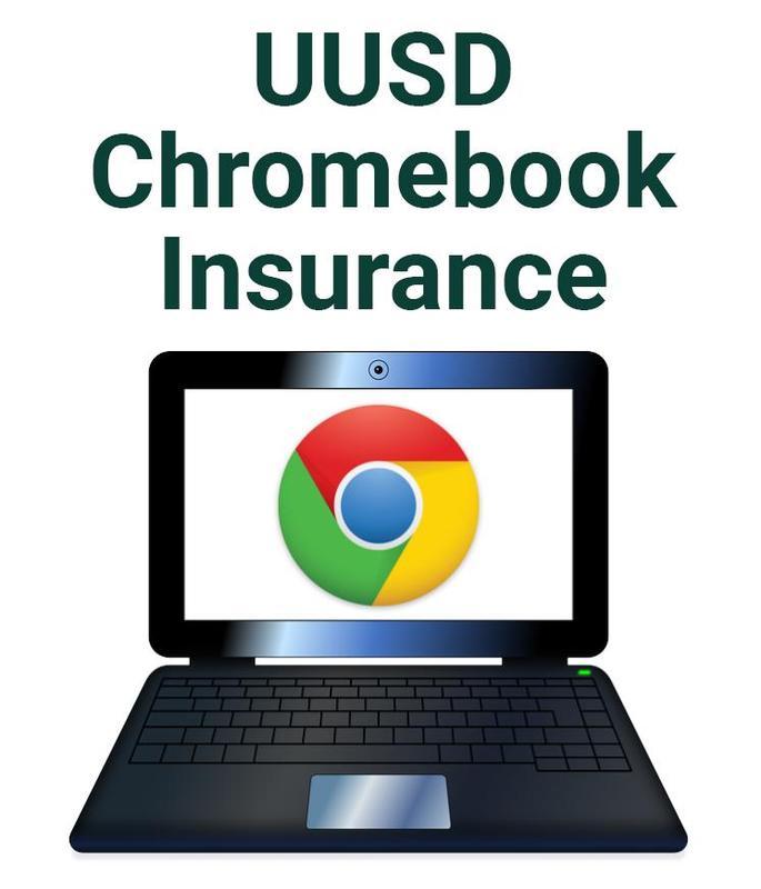 uusd chromebook insurance image of chromebook with chromebook logo on the screen