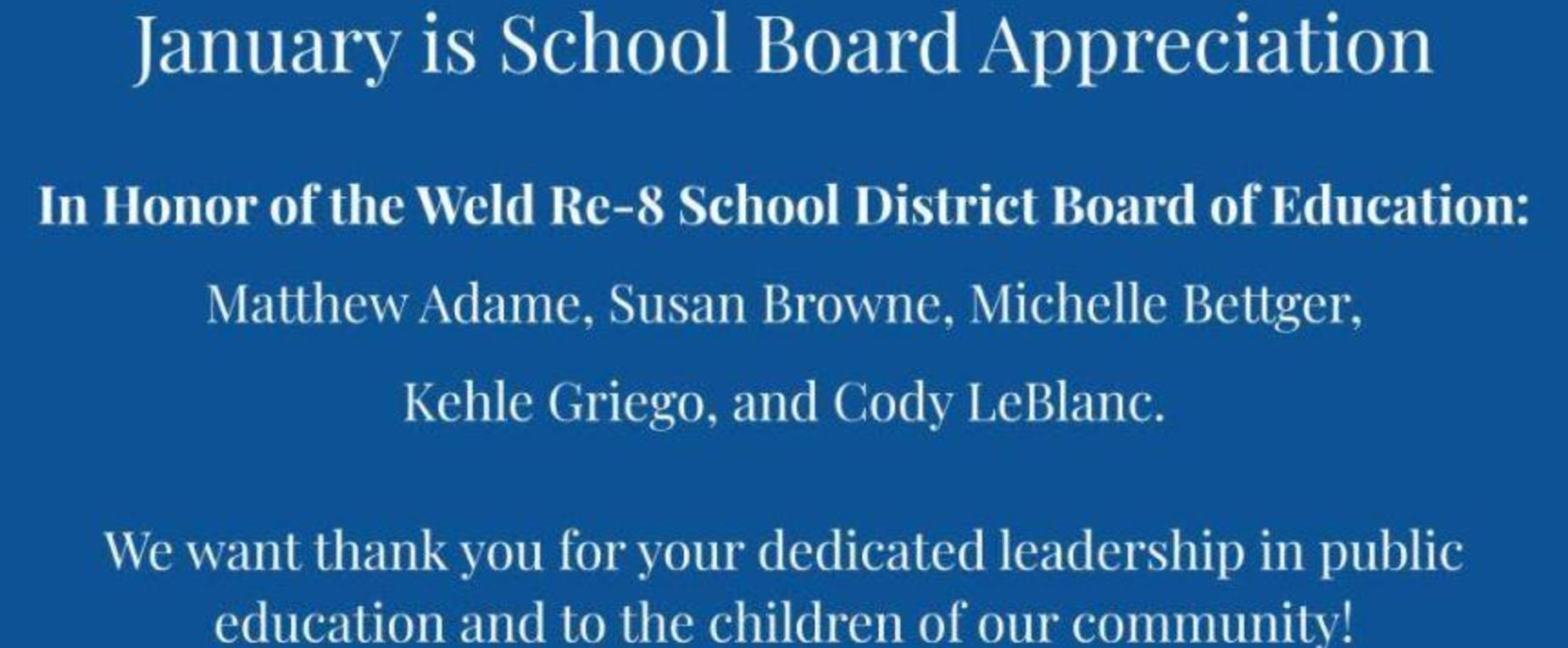 Board of Education Appreciation