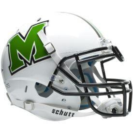 White Mainland fooball helmet