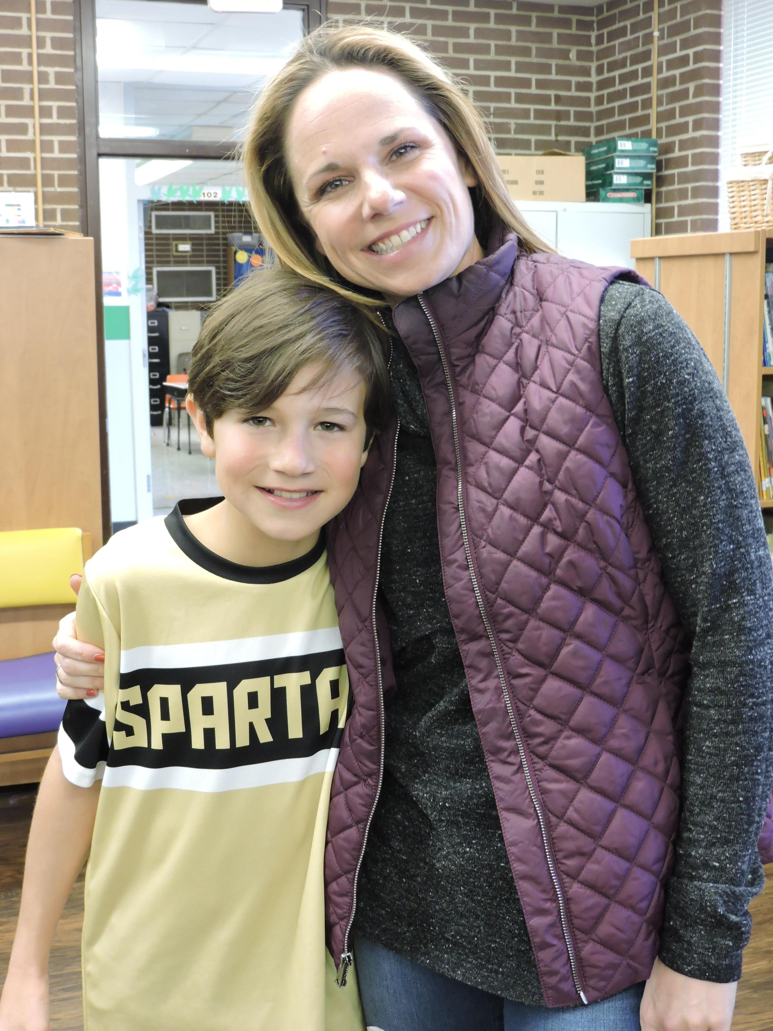 Spelling Bee Participant with parent