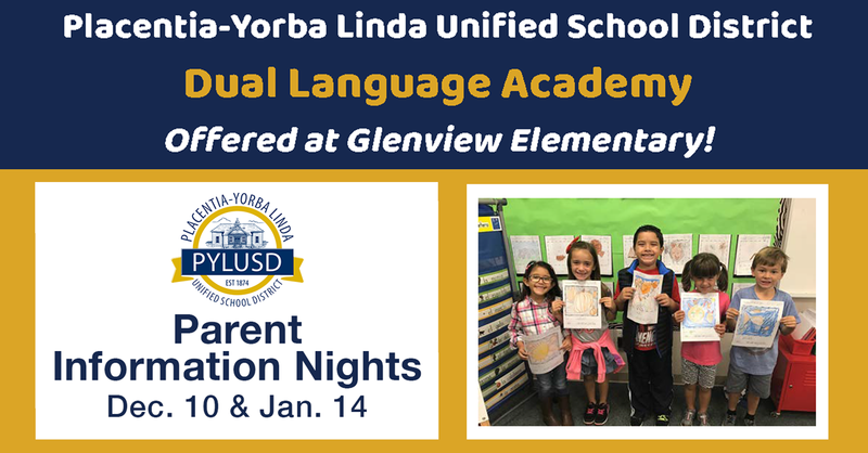 Dual Language Academy night graphic.