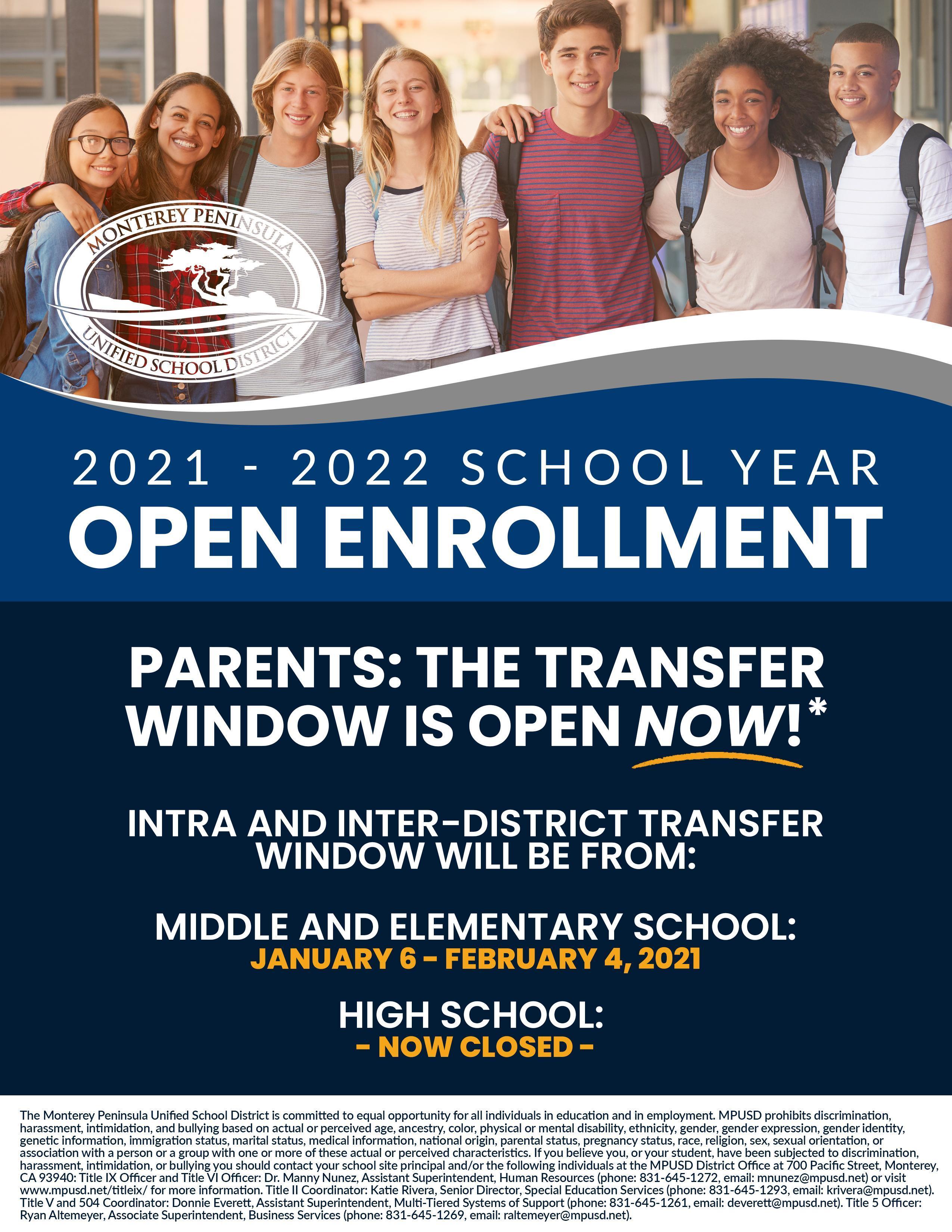 English Open Enrollment Flyer