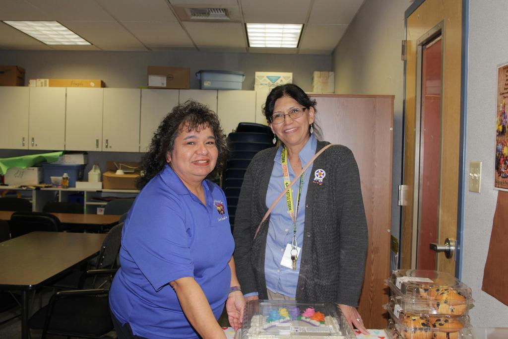 Staff are honored for Classified appreciation week.