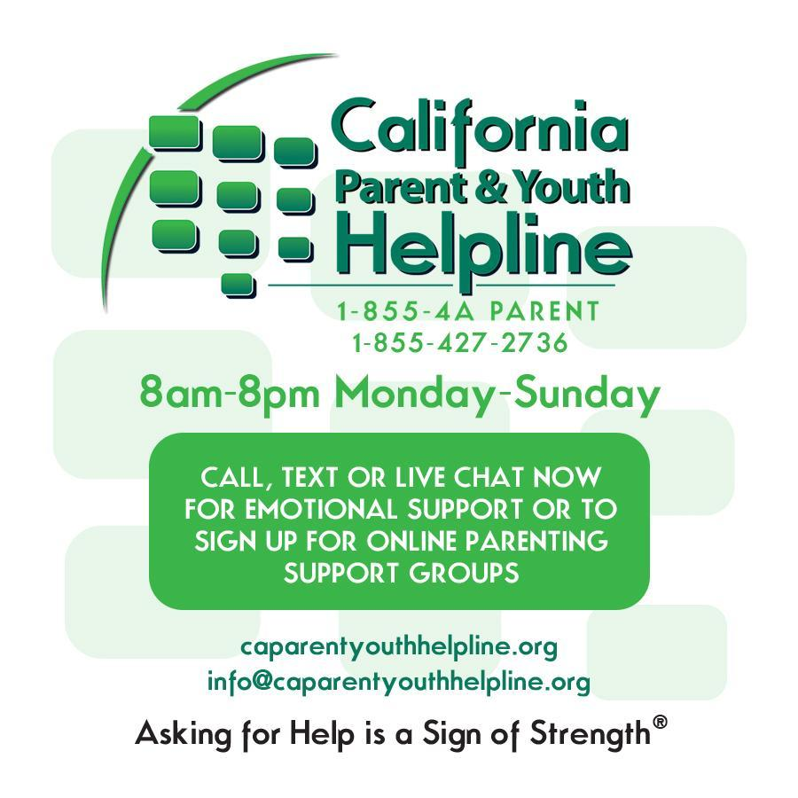 California Parent and Youth Helpline - English