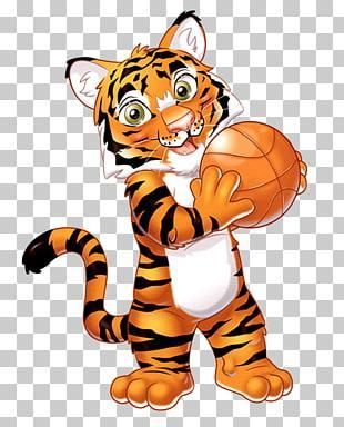 Basketball clip art--tiger.jpg