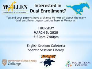 dual enrollment presentation information