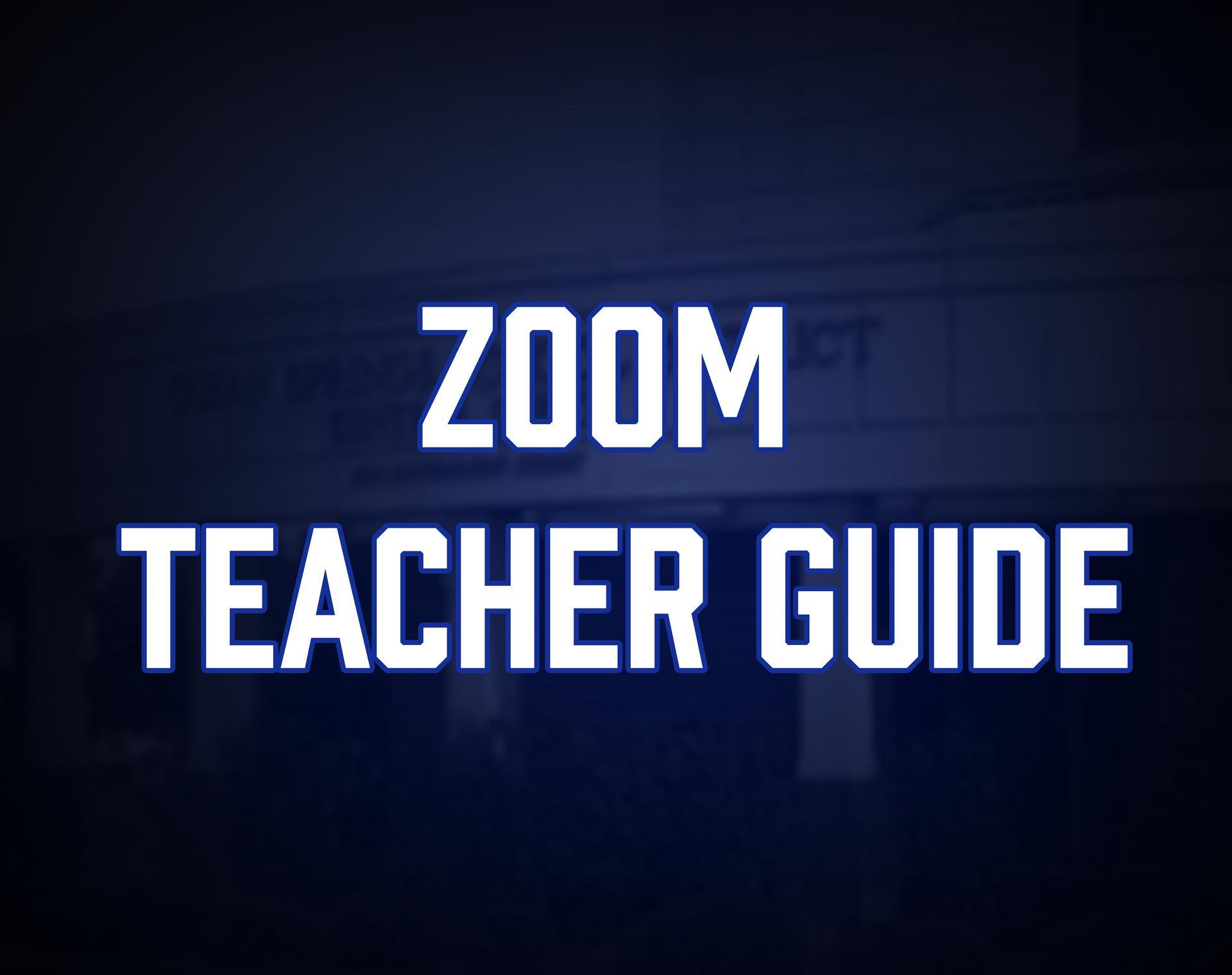 Zoom Teacher Guide