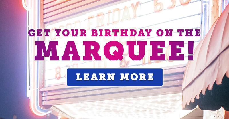 Announce Your Child's Birthday on Our School Marquee!