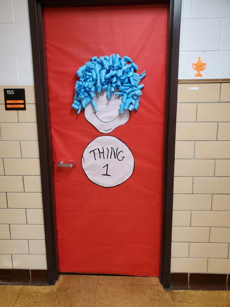 Thing 1 door decoration