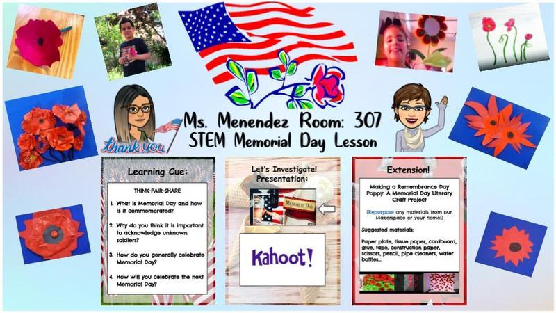 Memorial day activity collage