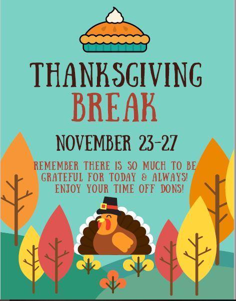 Thanksgiving Break Nov. 23rd-27th - No School Featured Photo