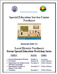 LDNE Special Education Parent Workshop