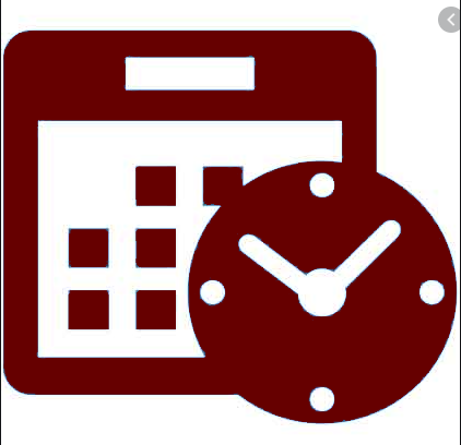 Schedule icon for distance learning