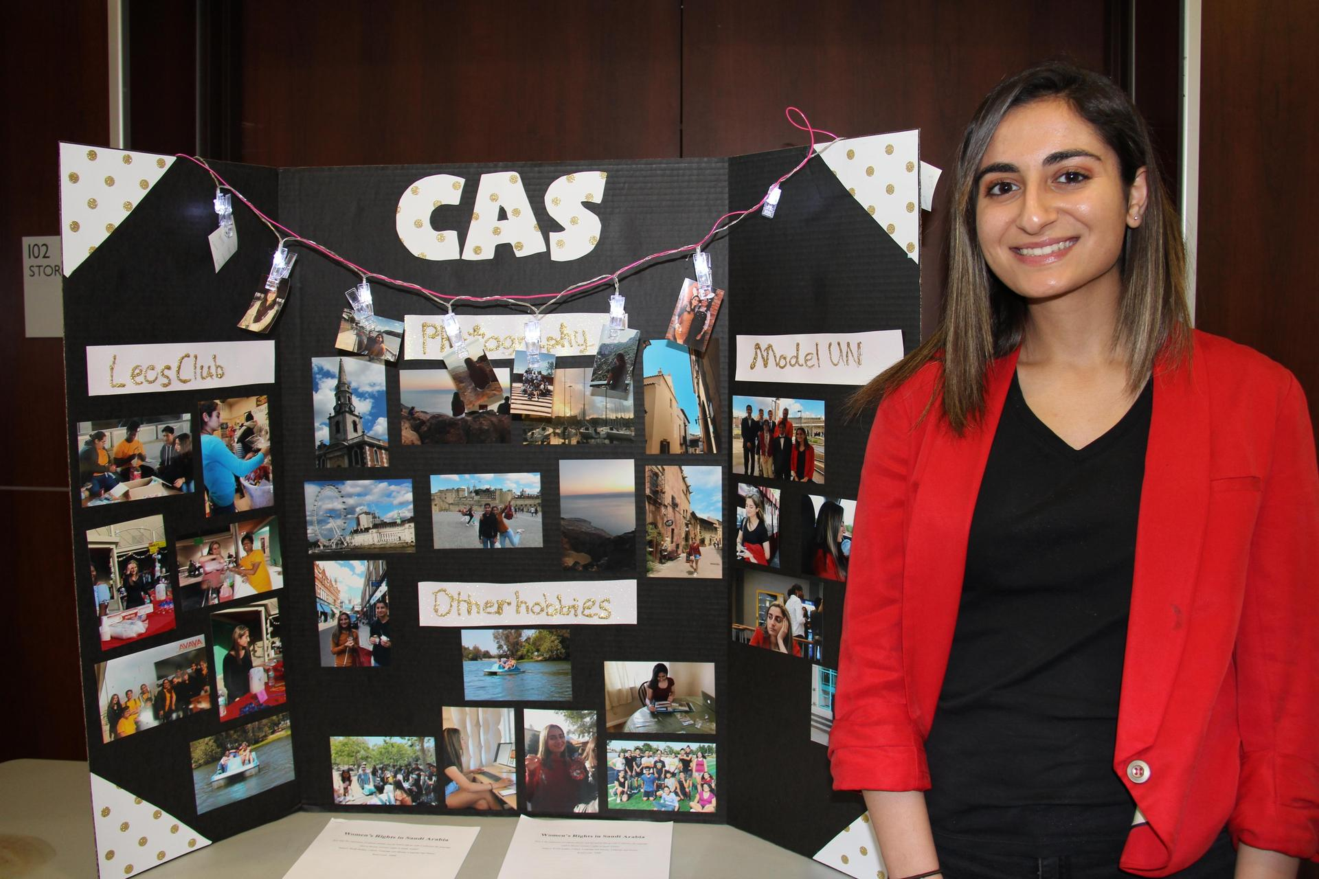 Image of IB Student - Serena - showcasing her Creativity, Activity & Service experiences
