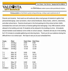 VMS Pick Up Info