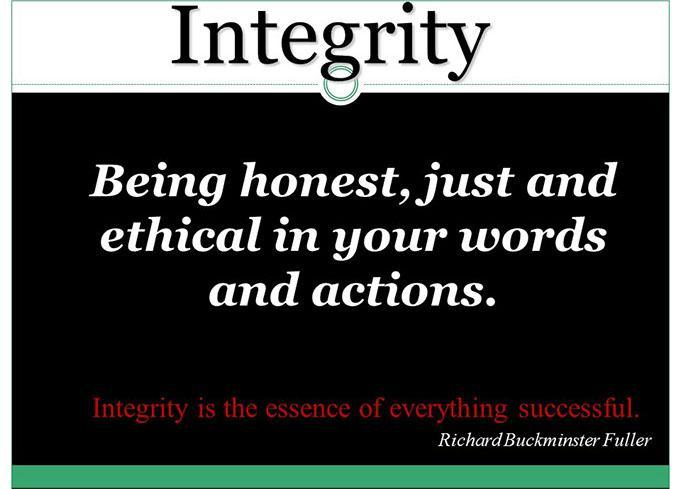 Core Value- Integrity
