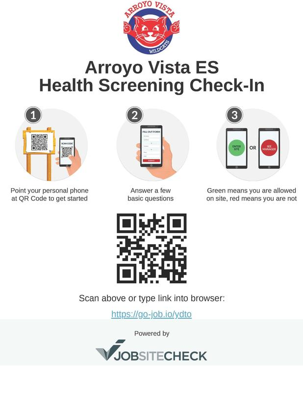 Arroyo Vista QR Code Health Screening