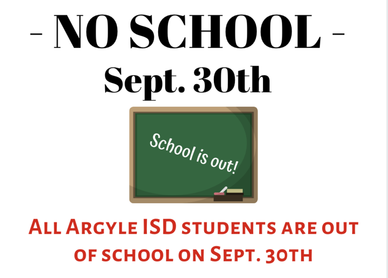 NO SCHOOL SEPT. 30TH Thumbnail Image