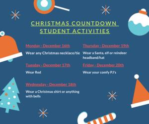 Christmas Countdown Student Activities
