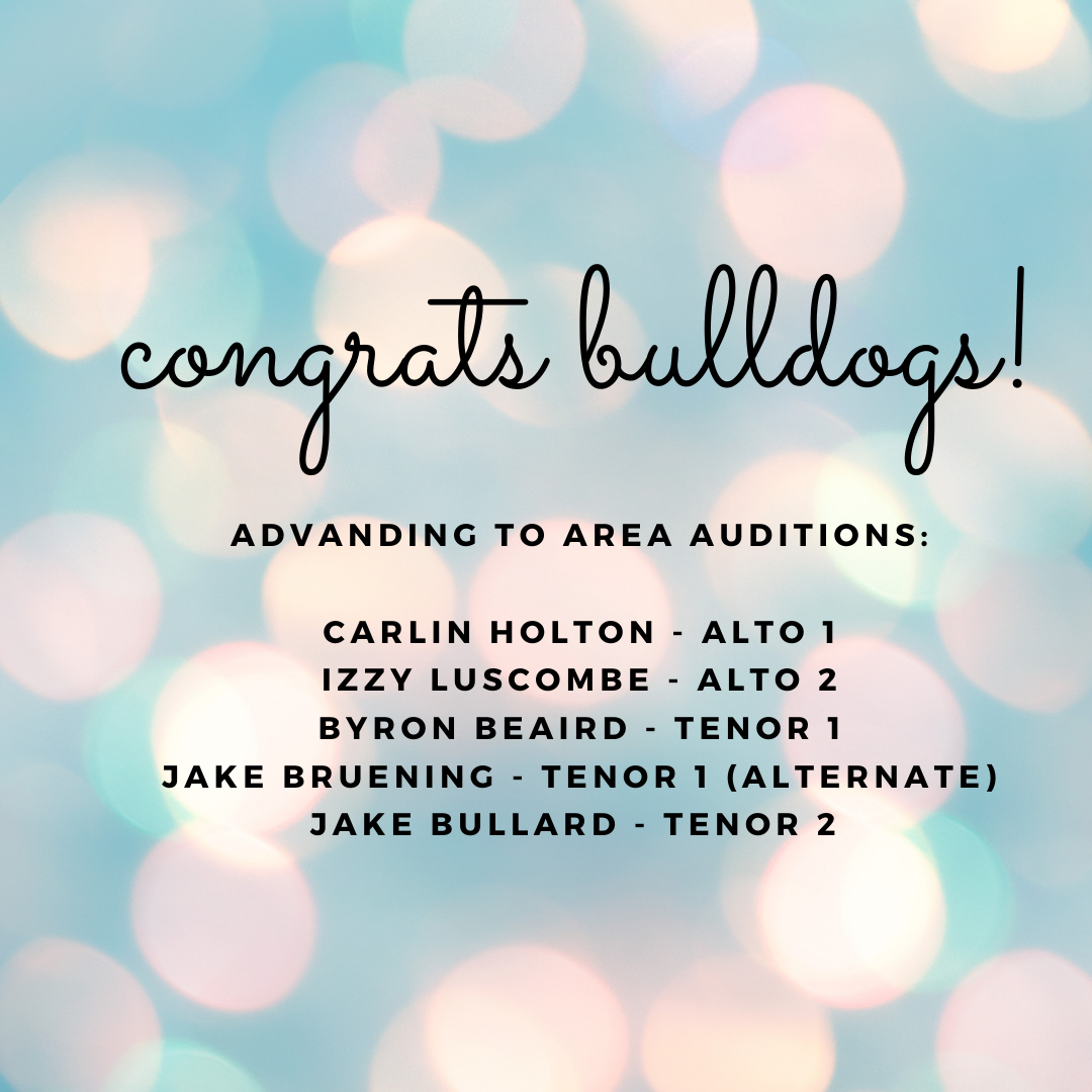 area audition results
