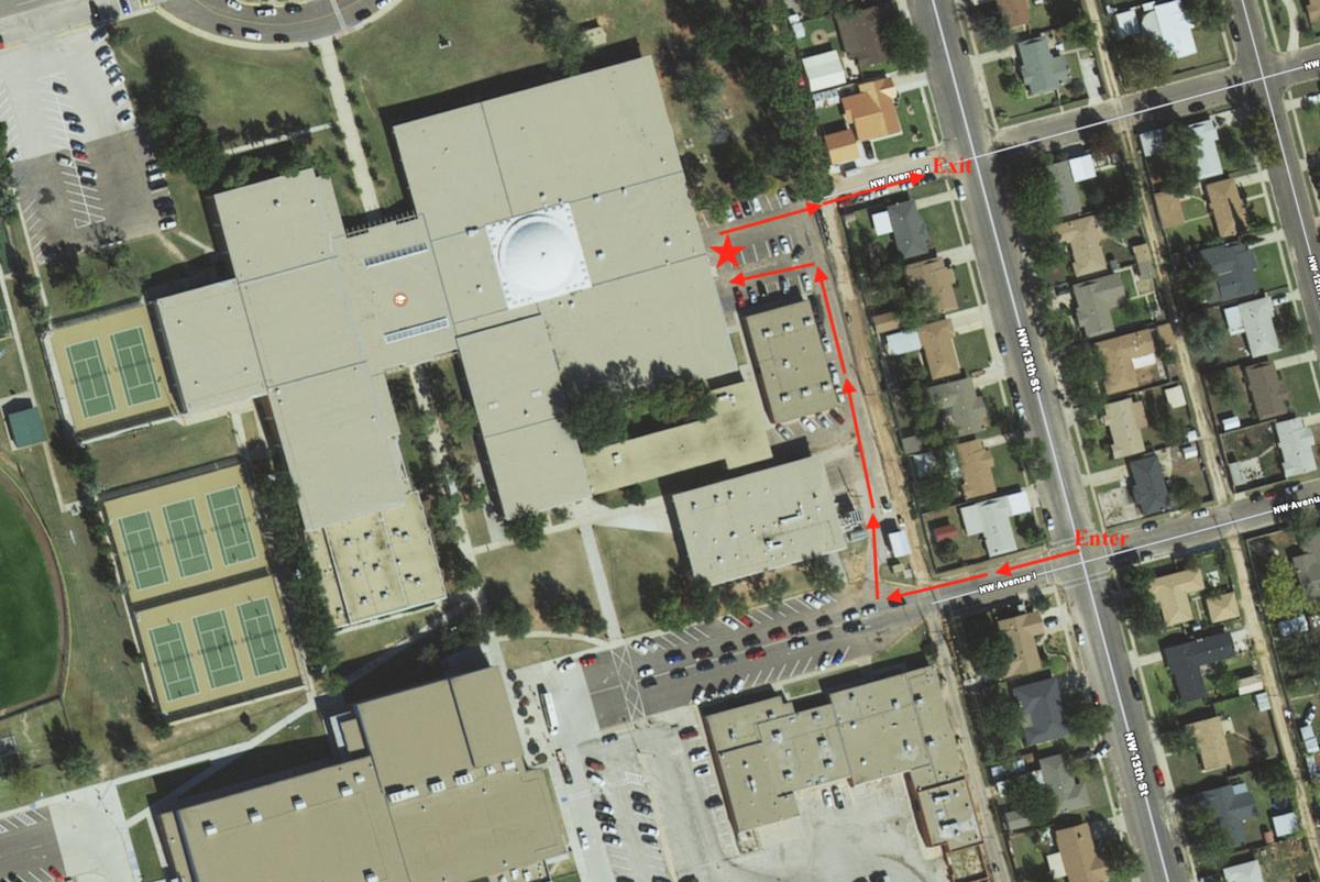 High School pickup location